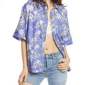 NWT Free People Love Letters Buttondown, L